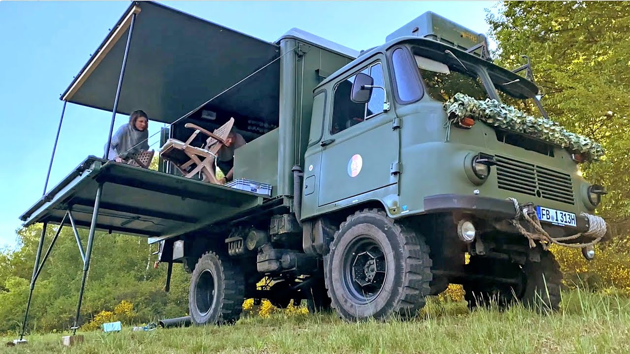 ROBUR Wohnmobil, 10x10 Camping Truck, 🚛 Outdoor with Friends