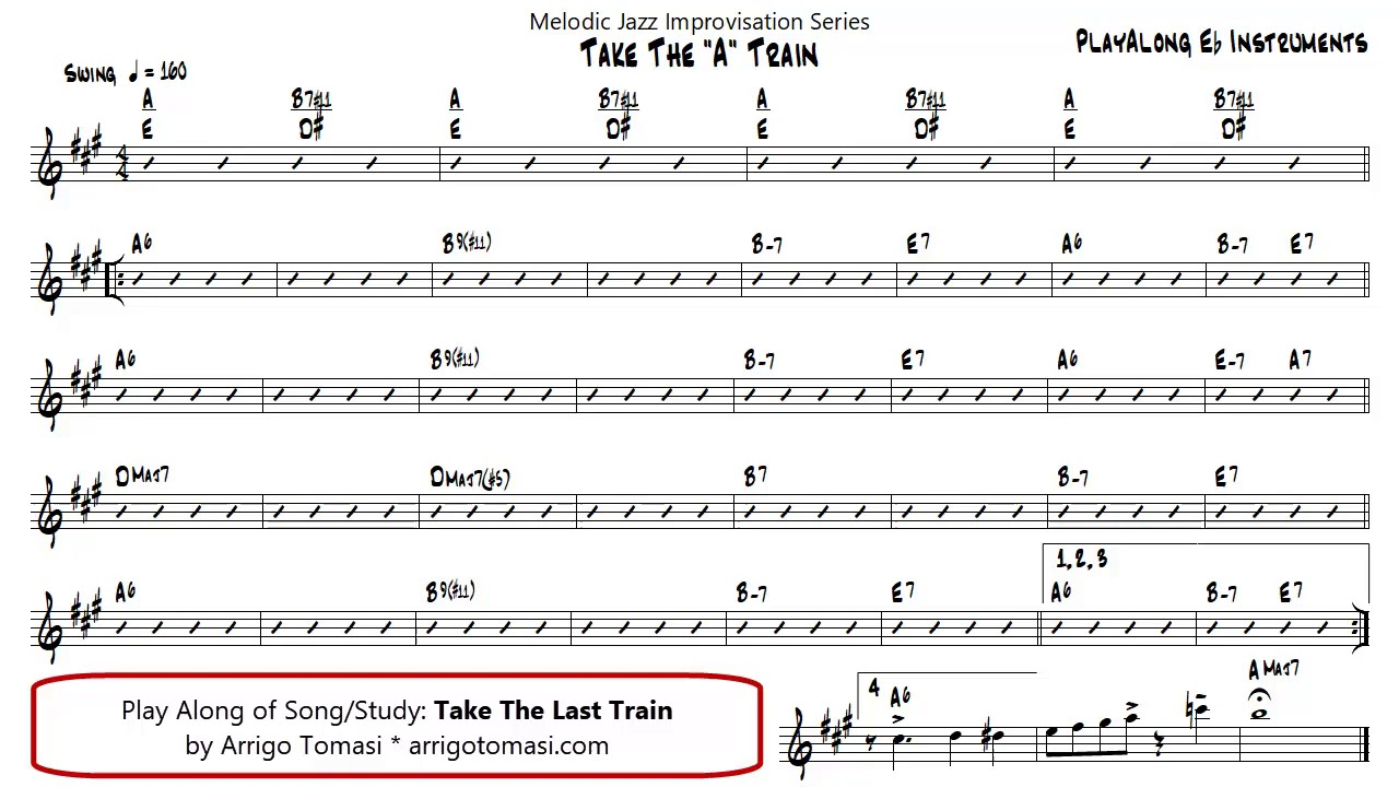 Take The A Train   Eb Instruments Play ALong