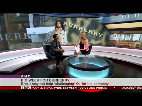 Imran Amed on BBC World News discussing Burberry's management shake-up