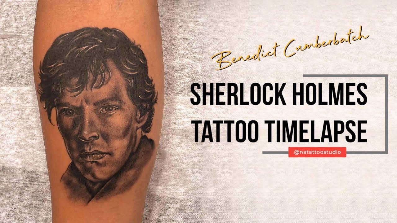 Benedict Cumberbatch   Sherlock Holmes Portrait Tattoo