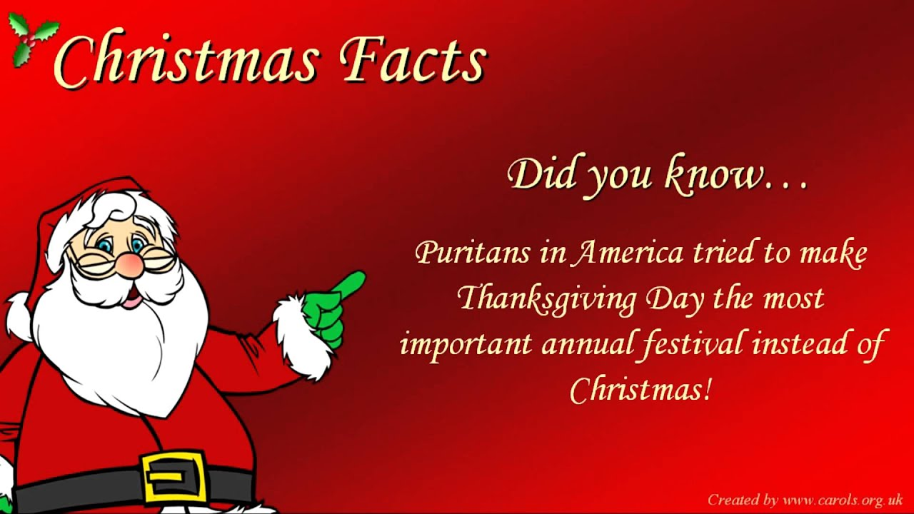 FUN CHRISTMAS FACTS - YouTube