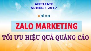 Học kiếm tiền Online - Zalo Marketing: Tối ưu hiệu quả quảng cáo khi làm Affiliate