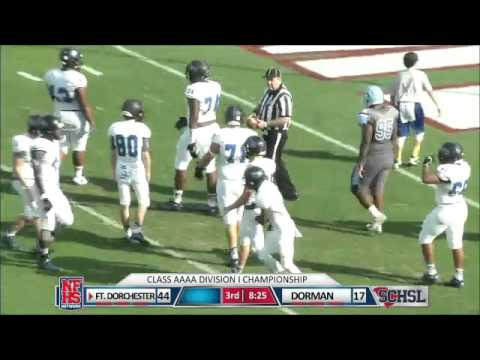 Ft. Dorchester #85 Nick Dederick spins into 11yd TD catch & run