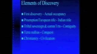 Professor Robert Miller: The Doctrine of Discovery and Manifest Destiny