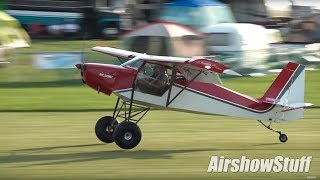 Ultralight Field Chaos! - Fixed Wing/STOL Flying - EAA AirVenture Oshkosh 2017