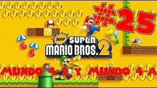 Guia de New Super Mario Bros 2 [100%] Parte 25 | Mundo 4-2 y Mundo 4-A