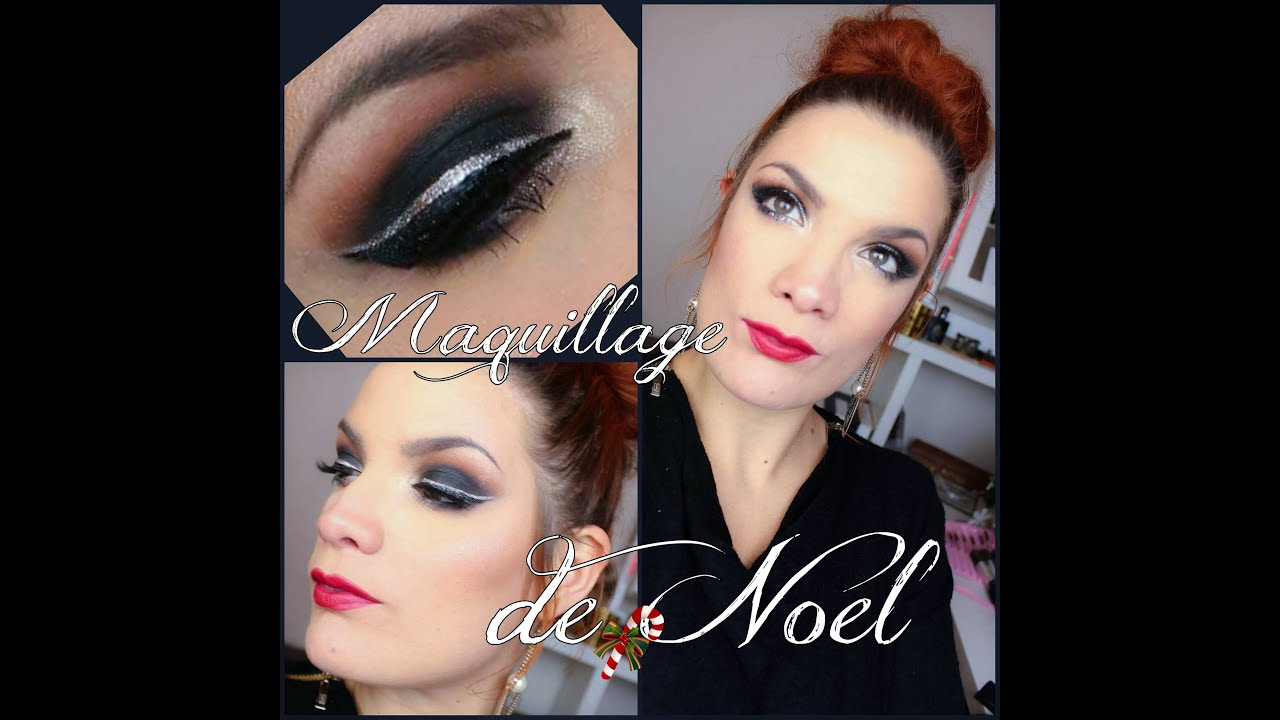 tuto maquillage yeux n 42 maquillage de f te no l charbonneux liner dor youtube. Black Bedroom Furniture Sets. Home Design Ideas