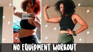 AT-HOME HIIT WORKOUT *no equipment* (75 pound weight loss transformation)