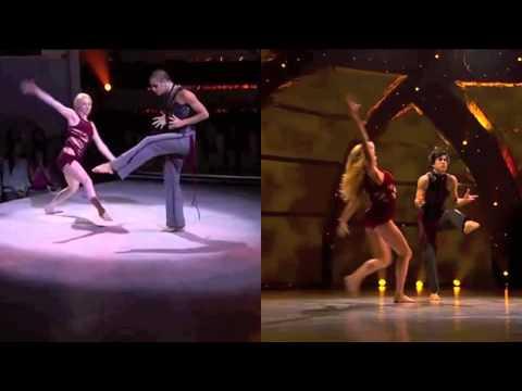 Kayla & Kupono / Lindsay & Cole Gravity Addiction Dance Split-Screen SYTYCD 9