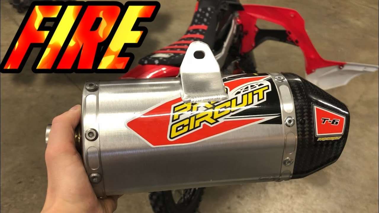 t 6 pro circuit exhaust for 2019 crf 110 pit bike build loud