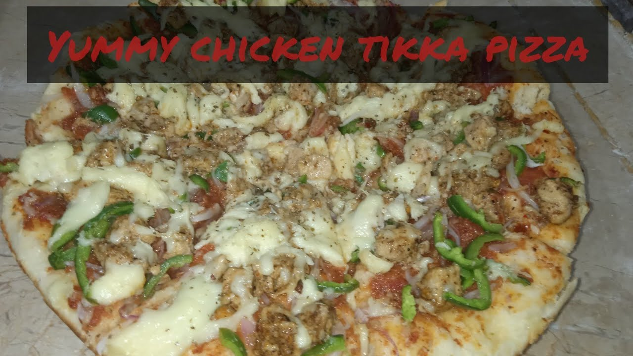 chicken tikka pizza.how to cook easy chicken tikka pizza.//food fashion