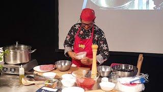 Cozze ripiene alla Livornese - Live Show Cooking Del Bocca al mercato Centrale di Livorno