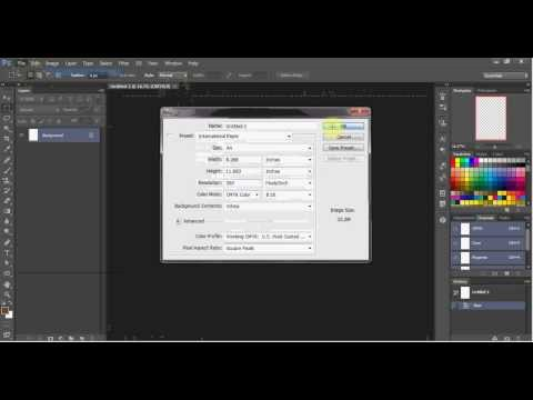 Adobe Photoshop - Make a New File Using A4 and Short Bond Paper.