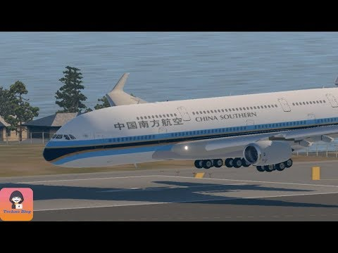 A380 Emergency Landing without Front Gear