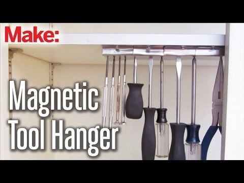 This DIY Magnetic Tool Hanger Keeps Your Tools Secure and Within Reach