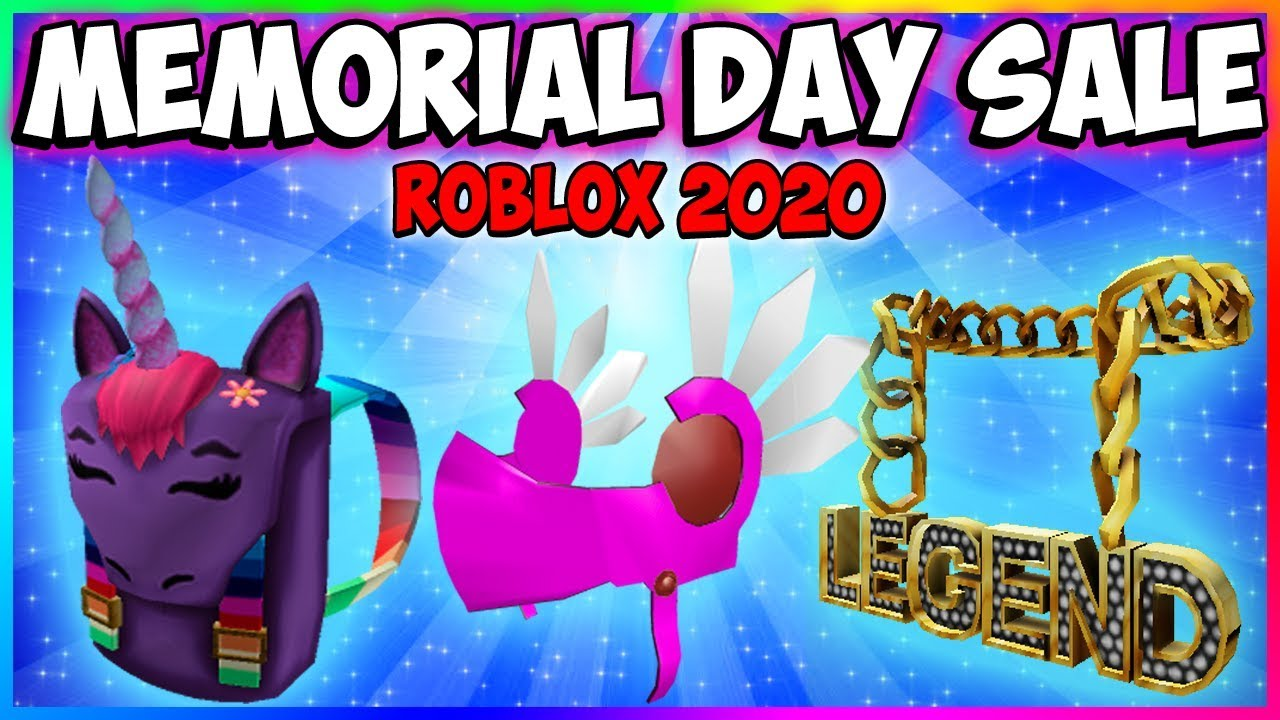 Roblox Memorial Day Sale 2020 New Items Limiteds Roblox Live Stream Youtube