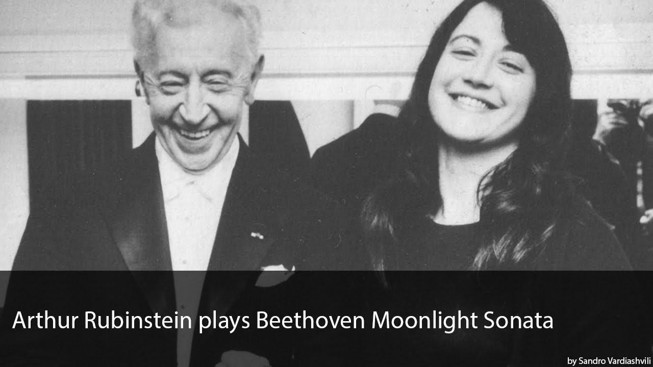 Arthur Rubinstein plays Beethoven Moonlight Sonata