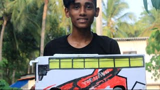 Miniature   bus komban model yodhavu making video