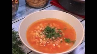 Рецепт томатного супа с фаршем и перловкой | Мясной суп с томатами
