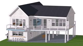 Small Beach House Plans On Pilings - Gif Maker  Daddygif.com  See Description