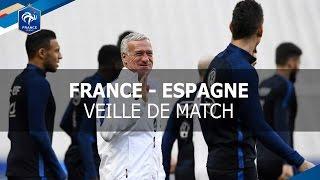 Entrainement des Bleus à la veille de France - Espagne