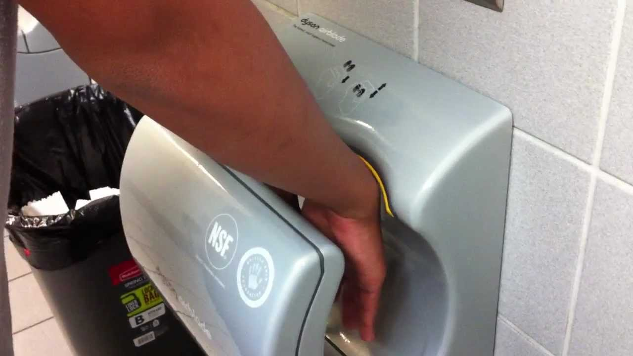 Dyson Air Blade Hand Dryer Youtube