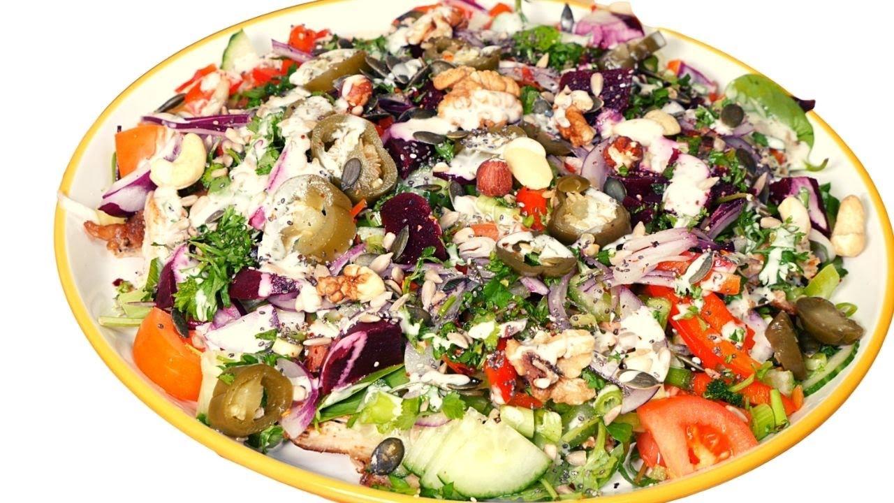 Jerk Chicken Salad How To Make Best Jamaican Jerk Chicken Salad Recipe By Chef Ricardo Cooking Youtube
