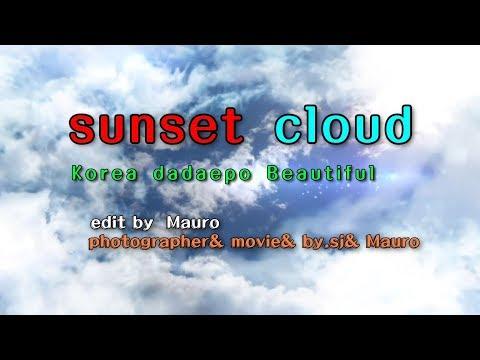 Korea sunset cloud Beautiful dadaepo AE  Produce