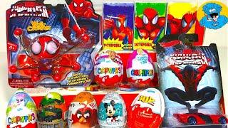 Киндер Сюрпризы Новый Человек ПаукUnboxing Kinder Surprise Avengers Spider ManDisney Princess