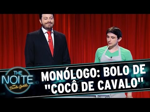 The Noite (31/07/15) - Monólogo: Danilo Experimenta O Bolo De