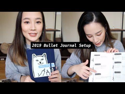我的2019子彈筆記規劃 + 愛用文具分享 | 2019 Bullet Journal Setup