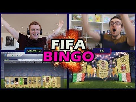 INSANE PACK LUCK IN THE FIRST FIFA BINGO OF FIFA 18 VS AJ3!!!