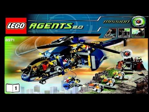 8971 LEGO Agents Aerial Defense Unit (instruction Booklet)