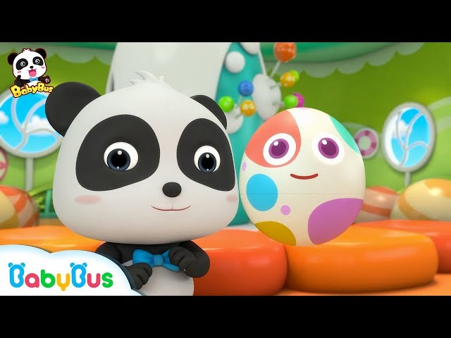 Baby Panda Opens Rainbow Surprise Eggs | Dessert Song | Learn Colors for Kids | BabyBus