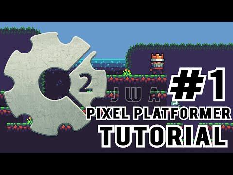 Construct 2: How to make a Pixel Platformer #1 | Tilemap Setup | Jerementor