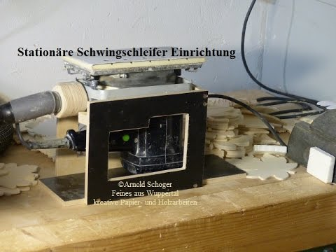 station re einrichtung f r schwingschleifer bauen tutorial stationary sander youtube. Black Bedroom Furniture Sets. Home Design Ideas