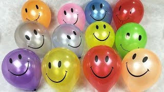 Smiley Face Balloon Popping Show Learn Colours Children's Educational Video