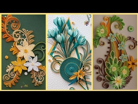 Beautiful Quilling Paper Flowers || Quilling Paper Flowers || Quilling Diy Paper Art