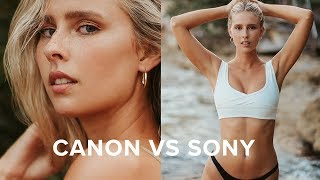 Sony A7 II VS Canon 5D III Swimwear Photoshoot Behind the Scenes