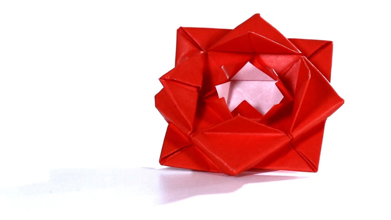 How to Make a Rose | Origami - YouTube - photo#29