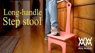 This is the handiest step stool ever! Easy woodworking project.
