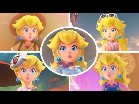 Super Mario Odyssey - All Peach Locations