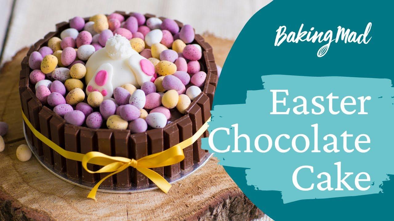 Easter Chocolate Cake Recipe Baking Mad Youtube