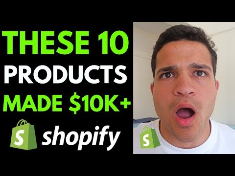 10 SHOPIFY PRODUCTS THAT MADE $10,000+ (And How I Found Them) thumbnail