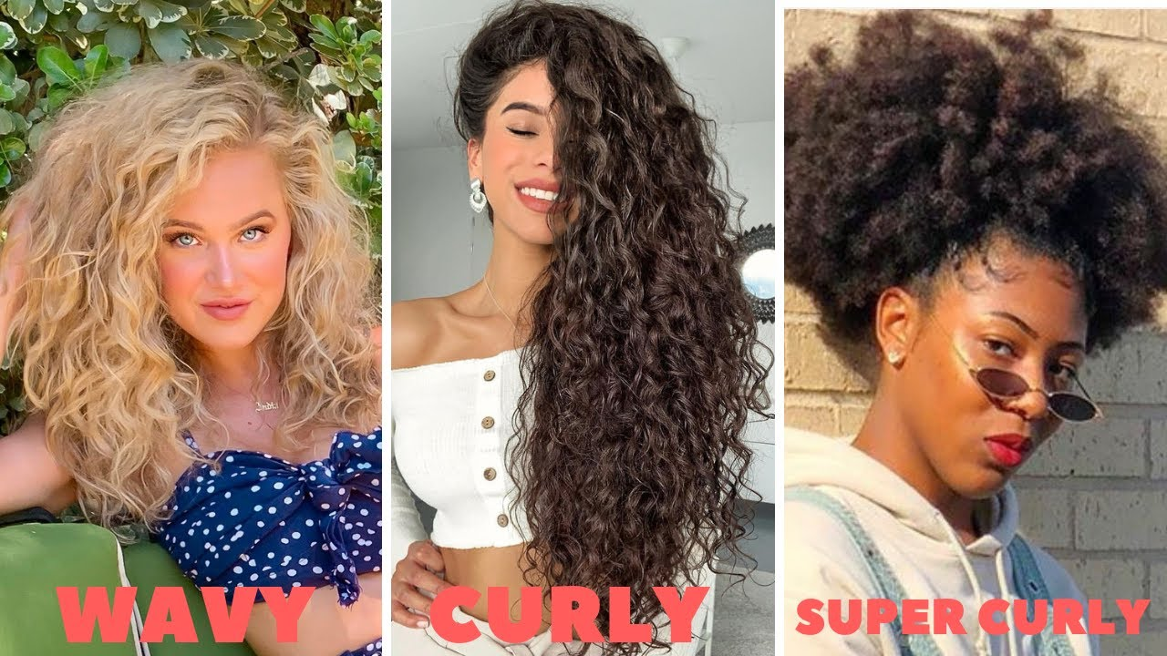How To Find Your Curl Type! | ALL Hair Types w/ Pictures ( + products  recommendations) - YouTube