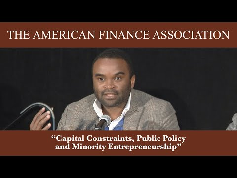 Capital Constraints, Public Policy and Minority Entrepreneurship