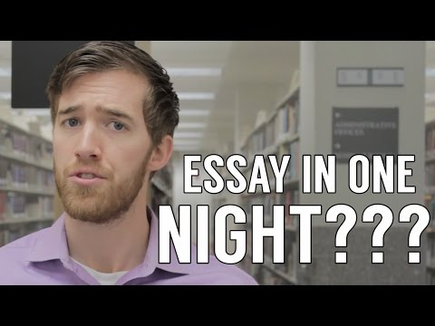 Видео One night to write an essay