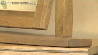 Tokyo Solid Oak Swivel Mirror From Oak Furniture Land