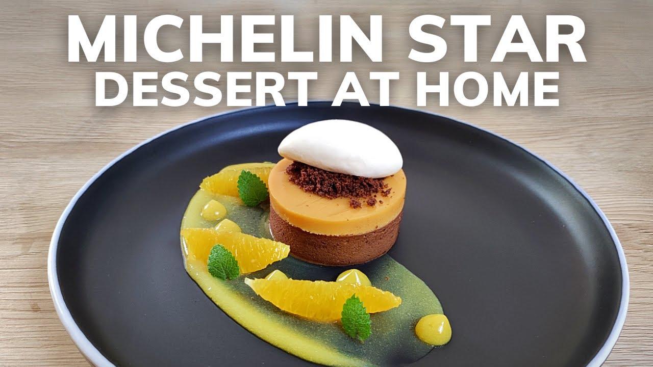Fine dining CHOCOLATE & ORANGE dessert   Michelin Star Pastry At Home