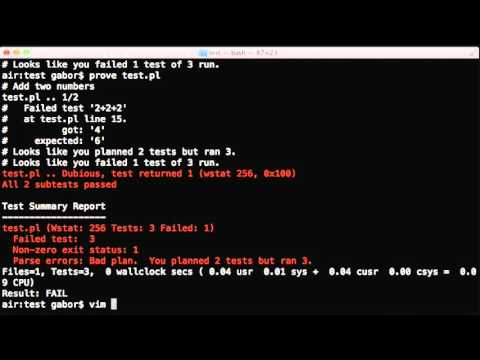 Perl Test diagnostic messages using diag, note, and explain
